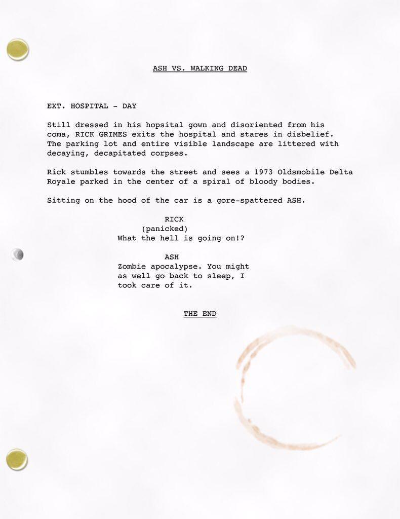 Ash vs. Walking Dead Script