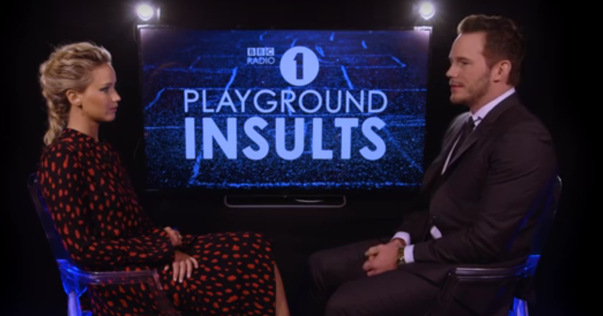 Playground Insults with Jennifer Lawrence and Chris Pratt